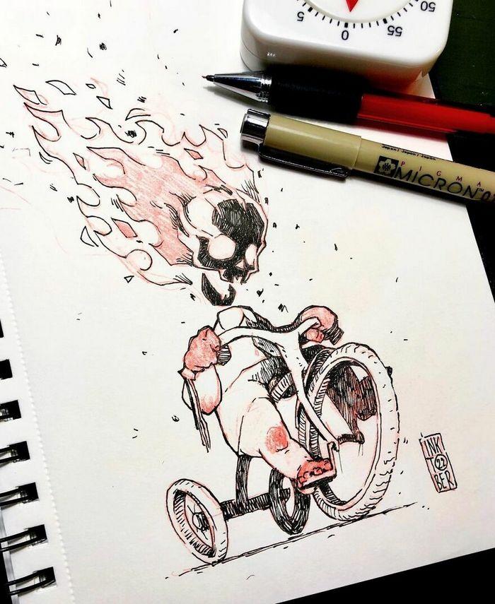 Artista russo cria ilustrações que são divertidas e assustadoras 28