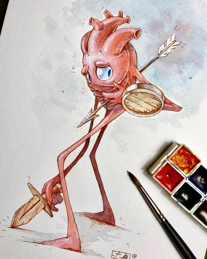 Artista russo cria ilustrações que são divertidas e assustadoras 29