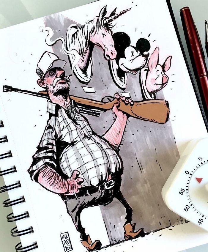 Artista russo cria ilustrações que são divertidas e assustadoras 30