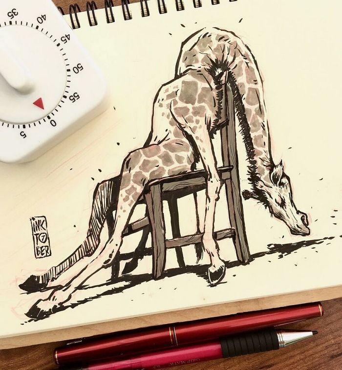 Artista russo cria ilustrações que são divertidas e assustadoras 33