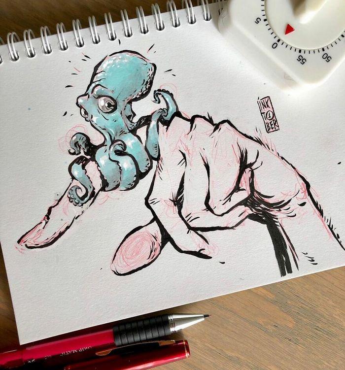 Artista russo cria ilustrações que são divertidas e assustadoras 36