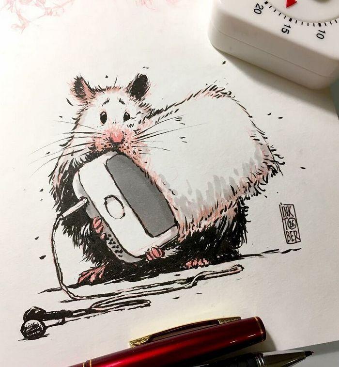 Artista russo cria ilustrações que são divertidas e assustadoras 37