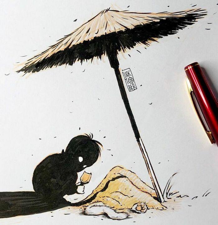 Artista russo cria ilustrações que são divertidas e assustadoras 41