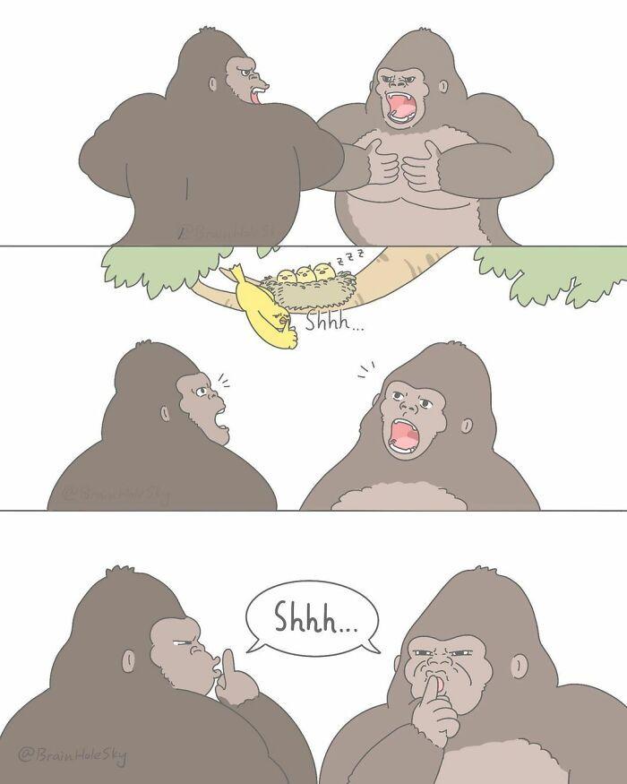 Artista taiwanês ilustra personagens fofinhos em situações engraçadas 21