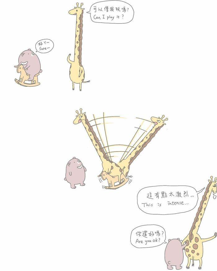 Artista taiwanês ilustra personagens fofinhos em situações engraçadas 29