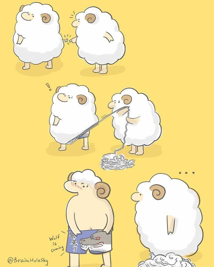 Artista taiwanês ilustra personagens fofinhos em situações engraçadas 30