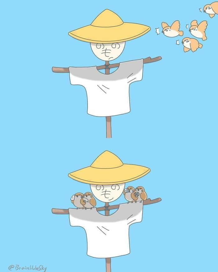 Artista taiwanês ilustra personagens fofinhos em situações engraçadas 31