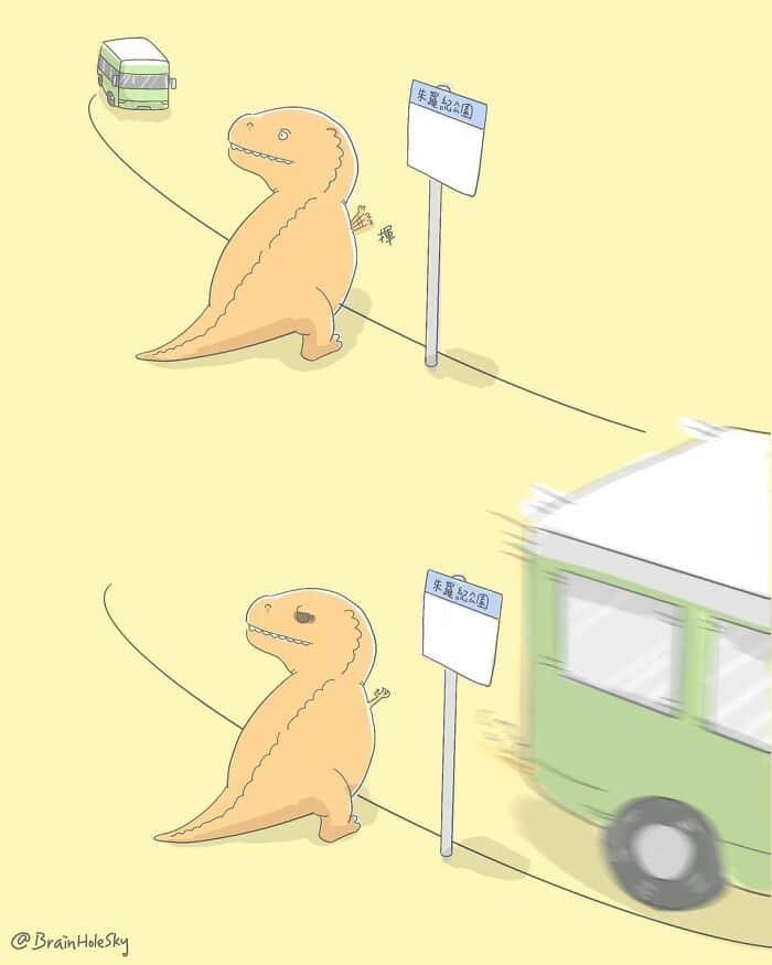 Artista taiwanês ilustra personagens fofinhos em situações engraçadas 32