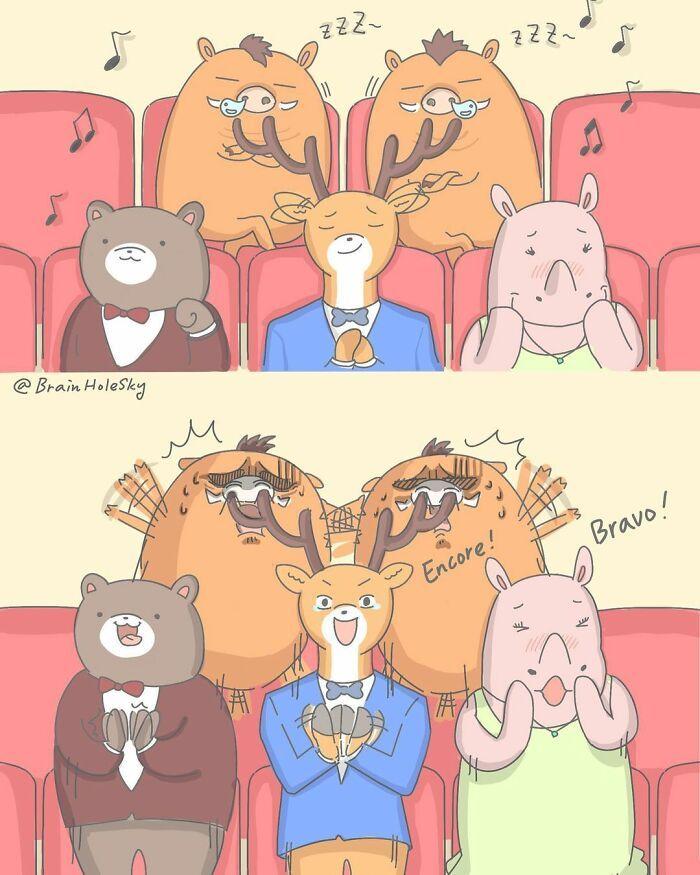 Artista taiwanês ilustra personagens fofinhos em situações engraçadas 35