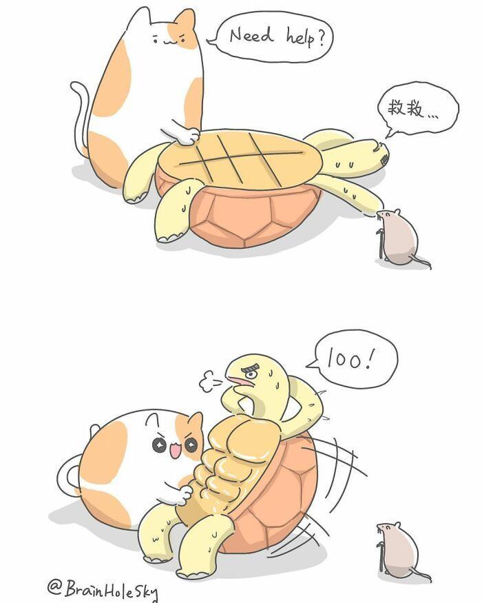 Artista taiwanês ilustra personagens fofinhos em situações engraçadas 39
