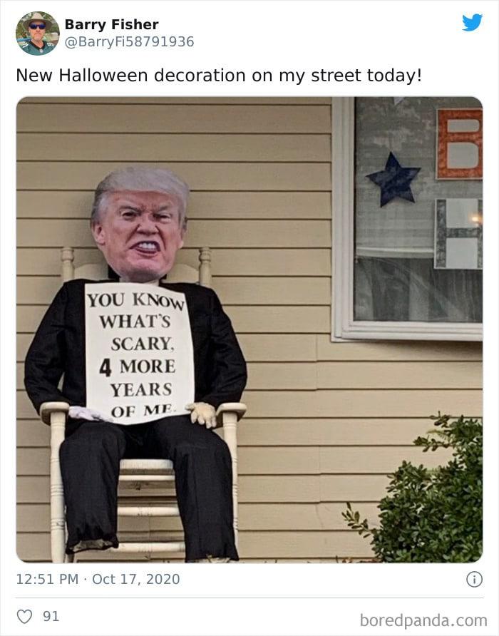 40 decorações de Halloween do ano de 2020 que são engraçadas e assustadoras 23