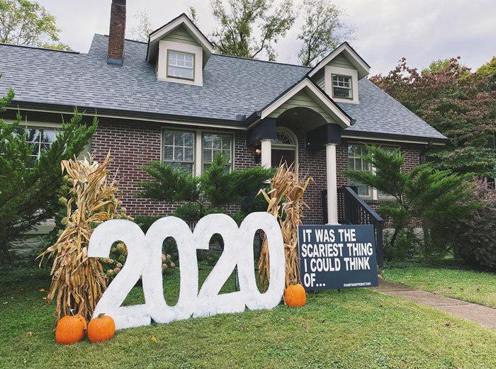 40 decorações de Halloween do ano de 2020 que são engraçadas e assustadoras 35