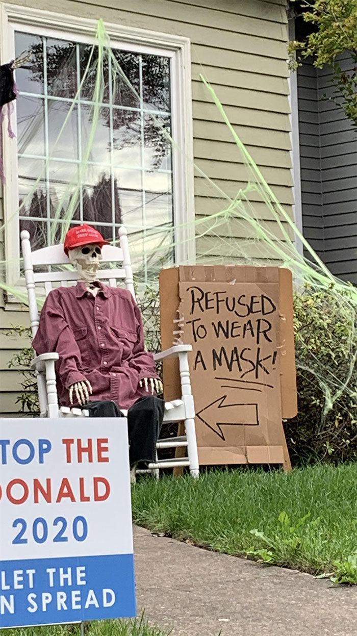 40 decorações de Halloween do ano de 2020 que são engraçadas e assustadoras 37