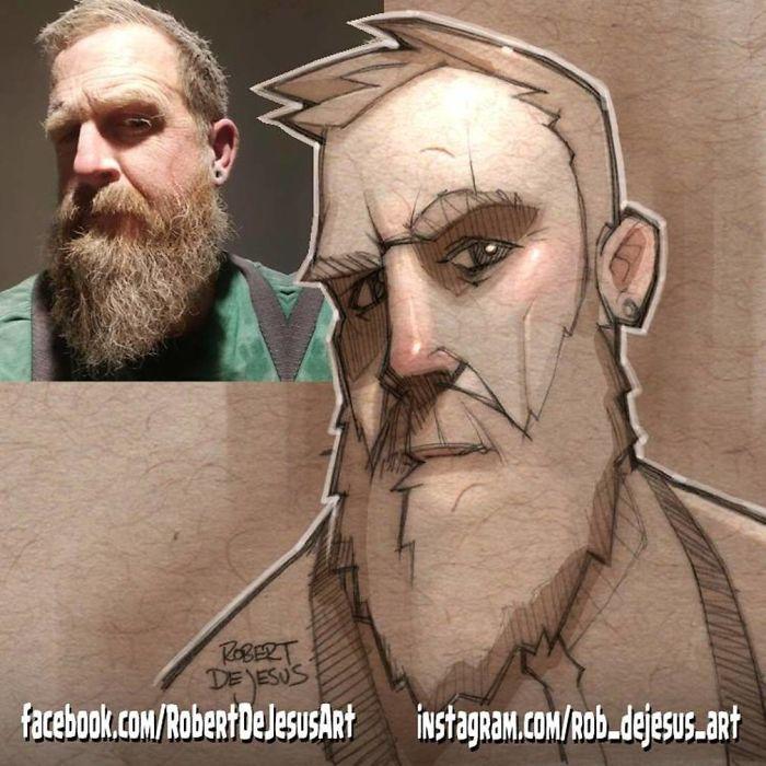 Este artista transforma estranhos em personagens de desenhos animados 20