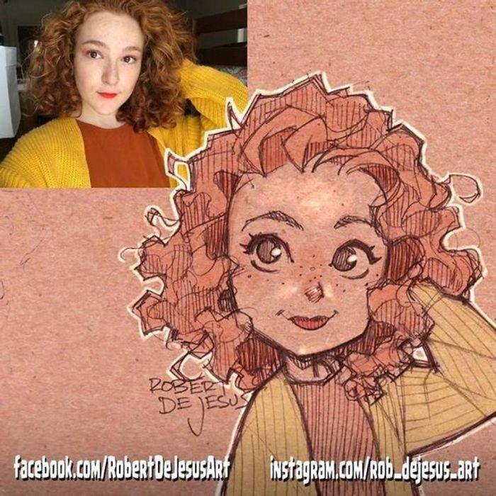 Este artista transforma estranhos em personagens de desenhos animados 26