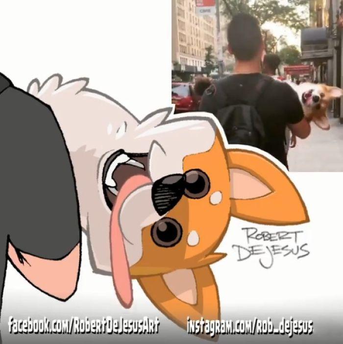 Este artista transforma estranhos em personagens de desenhos animados 28