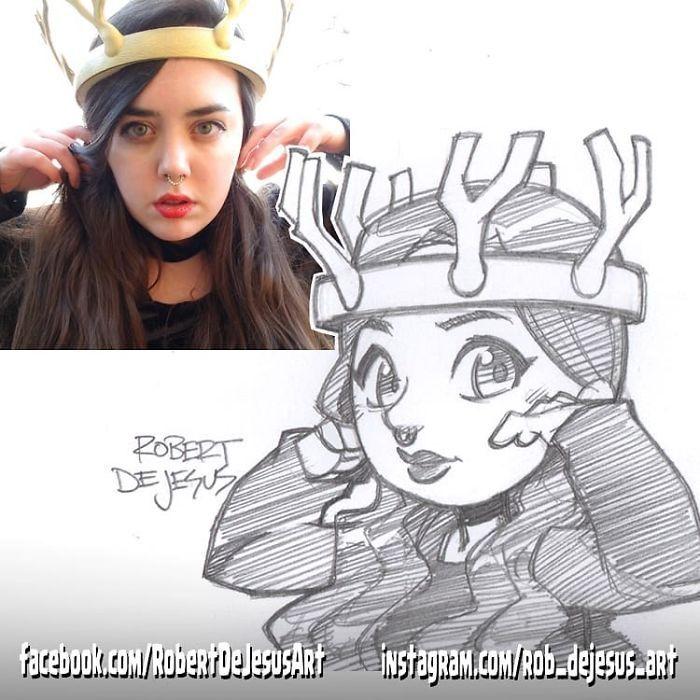 Este artista transforma estranhos em personagens de desenhos animados 36