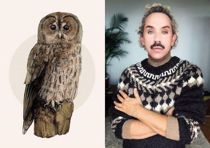 Eu crio estes looks de moda e maquiagem inspirados nos pássaros que desenho 6