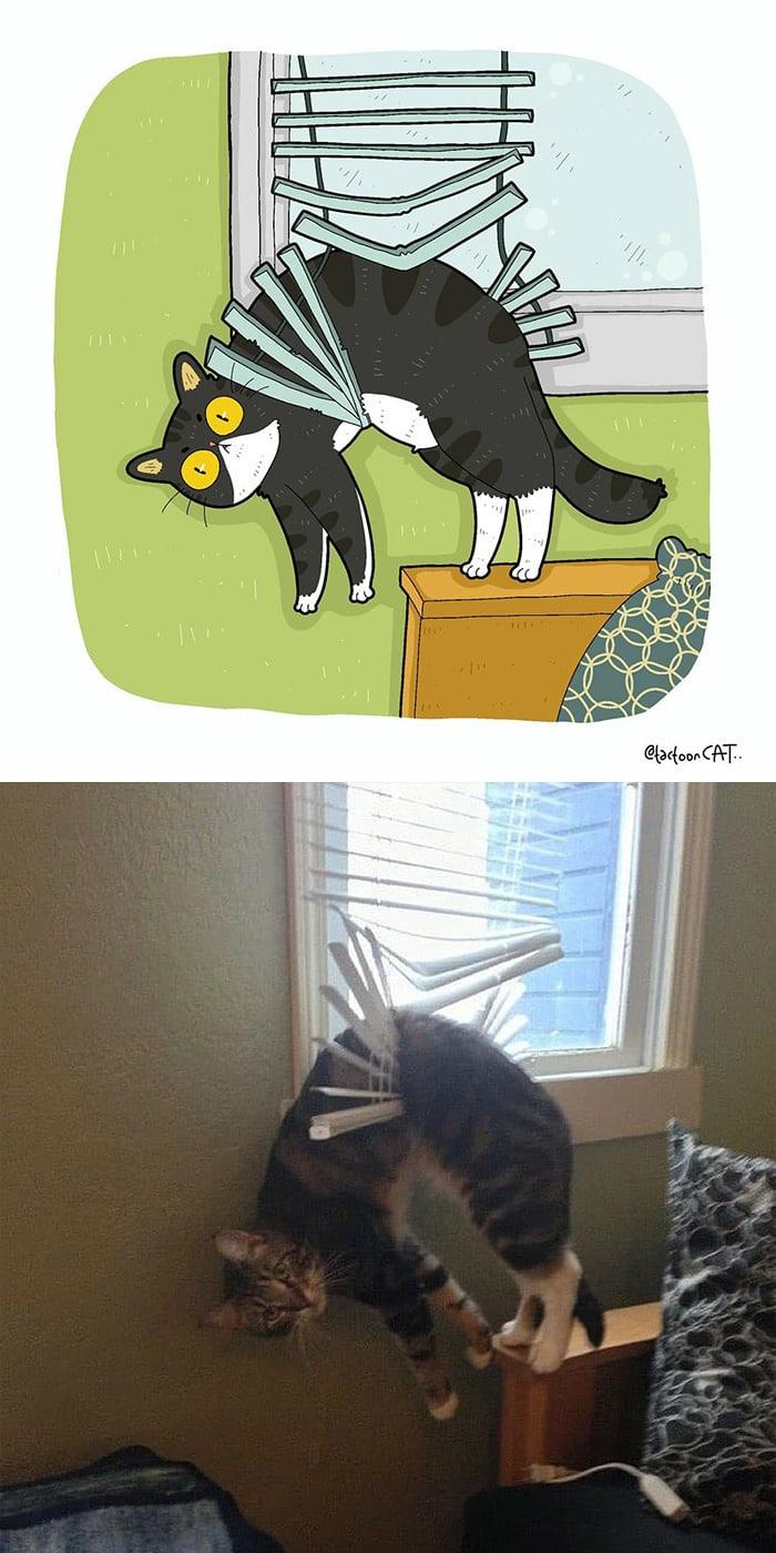 38 fotos de gatos mais engraçadas e famosas da Internet são ilustradas pela Tactooncat 6