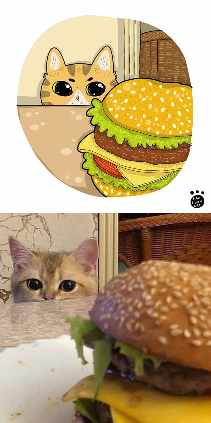 38 fotos de gatos mais engraçadas e famosas da Internet são ilustradas pela Tactooncat 8