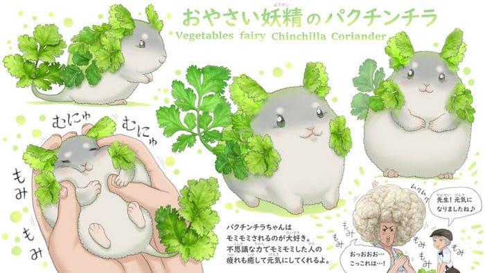 Ilustrador japonês combina animais e vegetais para fazer adoráveis criaturas de contos de fadas 4