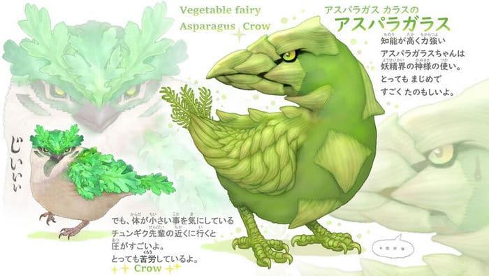 Ilustrador japonês combina animais e vegetais para fazer adoráveis criaturas de contos de fadas 8