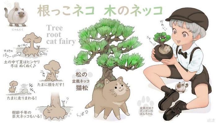 Ilustrador japonês combina animais e vegetais para fazer adoráveis criaturas de contos de fadas 18