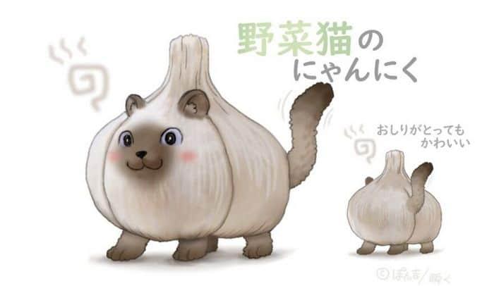 Ilustrador japonês combina animais e vegetais para fazer adoráveis criaturas de contos de fadas 21