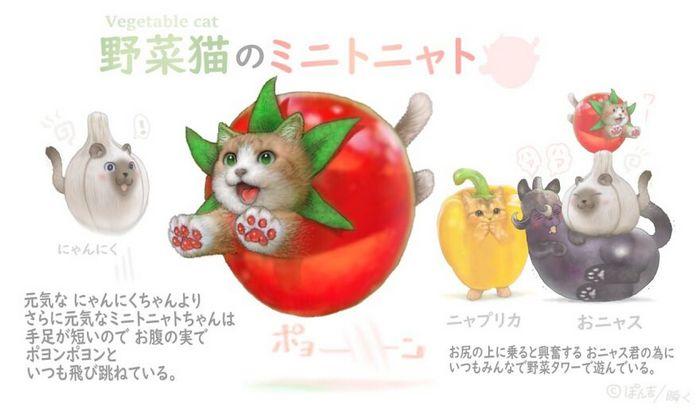 Ilustrador japonês combina animais e vegetais para fazer adoráveis criaturas de contos de fadas 22