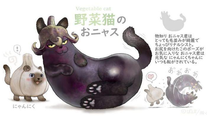 Ilustrador japonês combina animais e vegetais para fazer adoráveis criaturas de contos de fadas 23