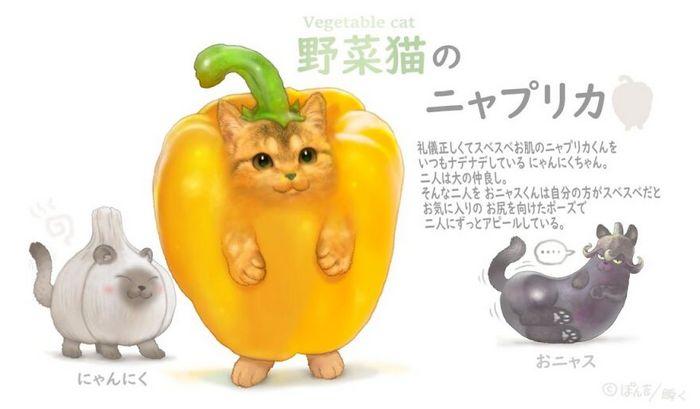 Ilustrador japonês combina animais e vegetais para fazer adoráveis criaturas de contos de fadas 24