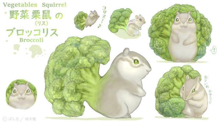 Ilustrador japonês combina animais e vegetais para fazer adoráveis criaturas de contos de fadas 33