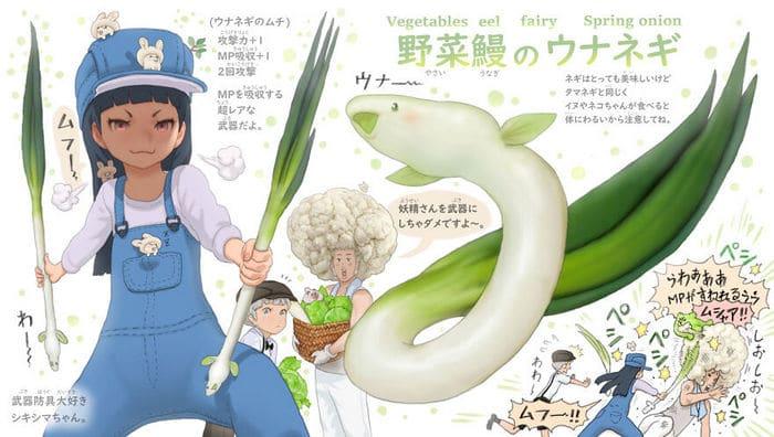 Ilustrador japonês combina animais e vegetais para fazer adoráveis criaturas de contos de fadas 38
