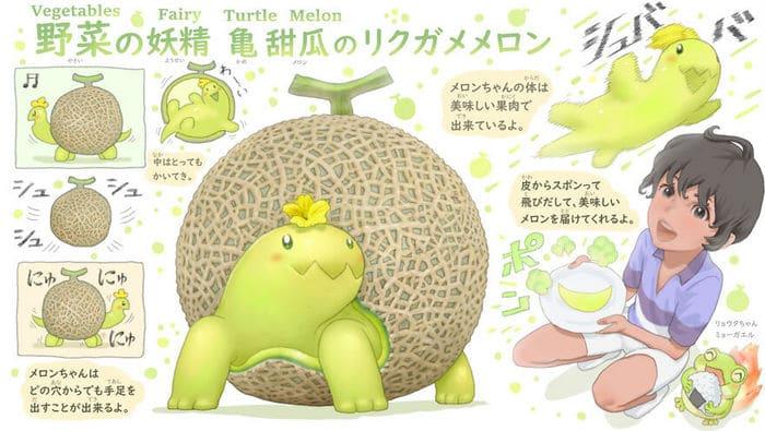 Ilustrador japonês combina animais e vegetais para fazer adoráveis criaturas de contos de fadas 40