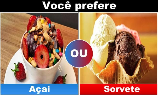 Qual você prefere: Comida 5