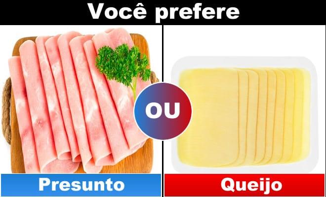 Qual você prefere: Comida 6