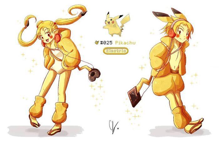Sou um artista preso a uma cadeira de rodas e me desafiei a desenhar cada Pokémon como humano 16