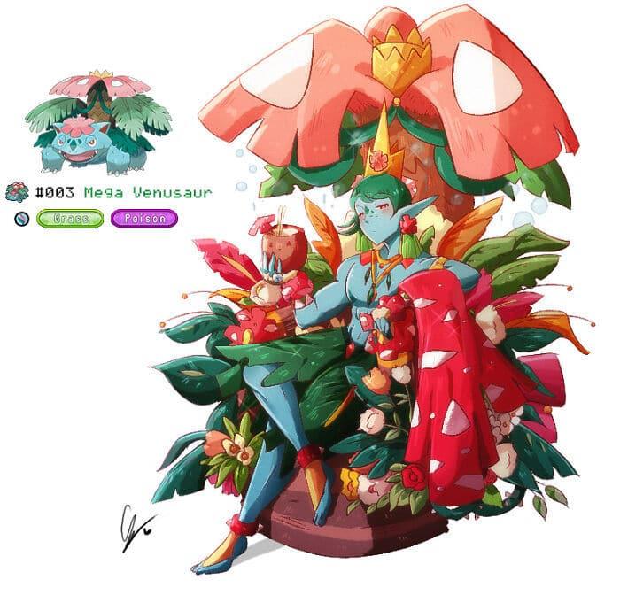 Sou um artista preso a uma cadeira de rodas e me desafiei a desenhar cada Pokémon como humano 36