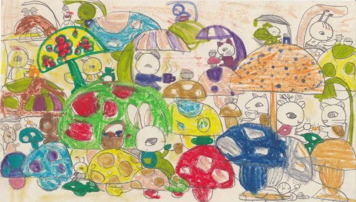 Tentei desenhar meus desenhos de infância de novo 30 anos depois 4