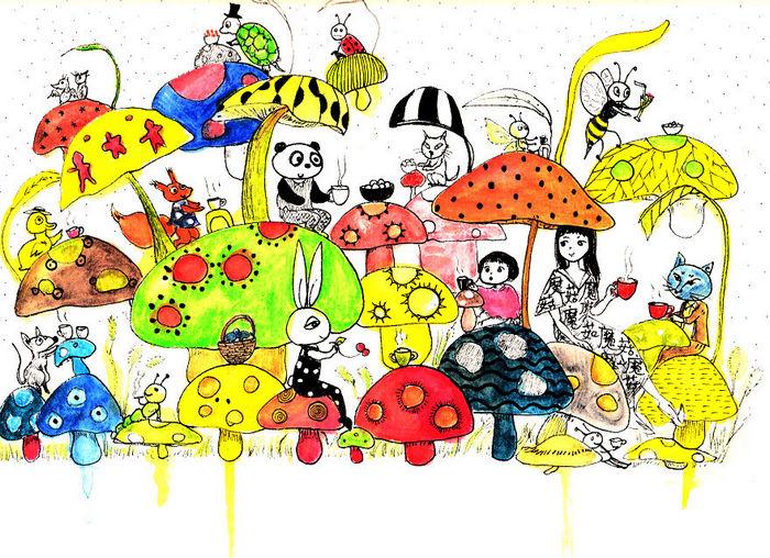 Tentei desenhar meus desenhos de infância de novo 30 anos depois 5