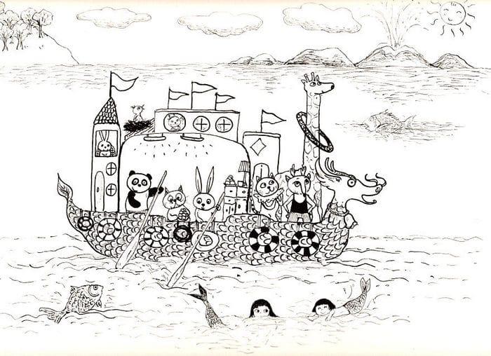 Tentei desenhar meus desenhos de infância de novo 30 anos depois 13