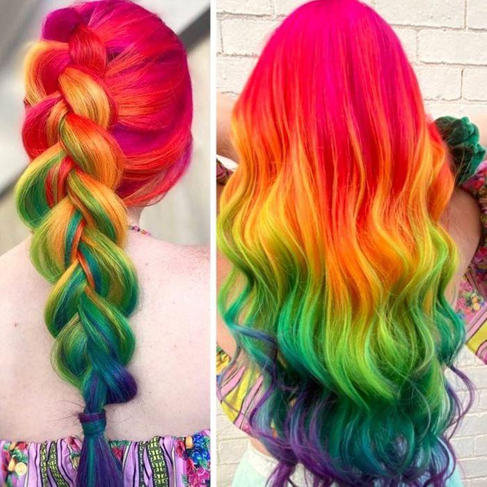 Um cabeleireiro australiano que transforma o cabelo em arco-íris 24