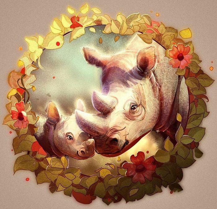 Artista cria ilustrações fofas de animais selvagens e animais de estimação 5