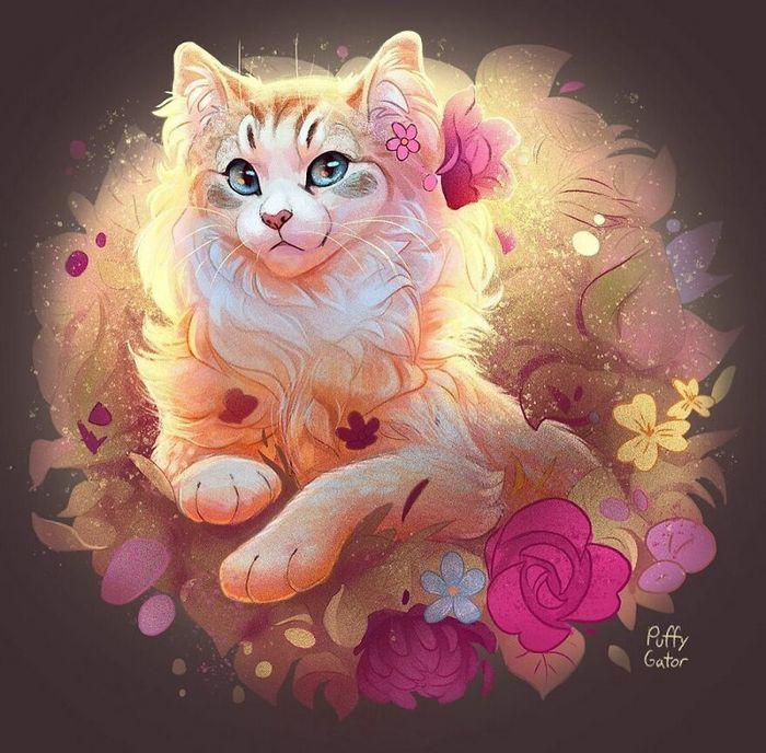 Artista cria ilustrações fofas de animais selvagens e animais de estimação 6