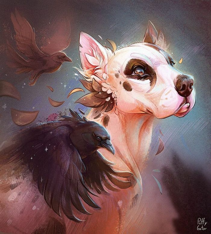 Artista cria ilustrações fofas de animais selvagens e animais de estimação 15