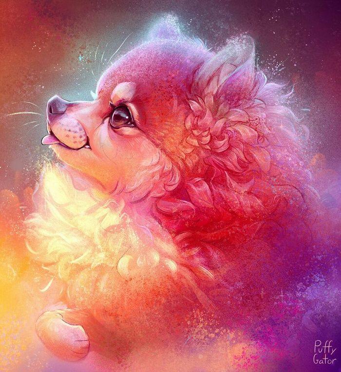 Artista cria ilustrações fofas de animais selvagens e animais de estimação 17