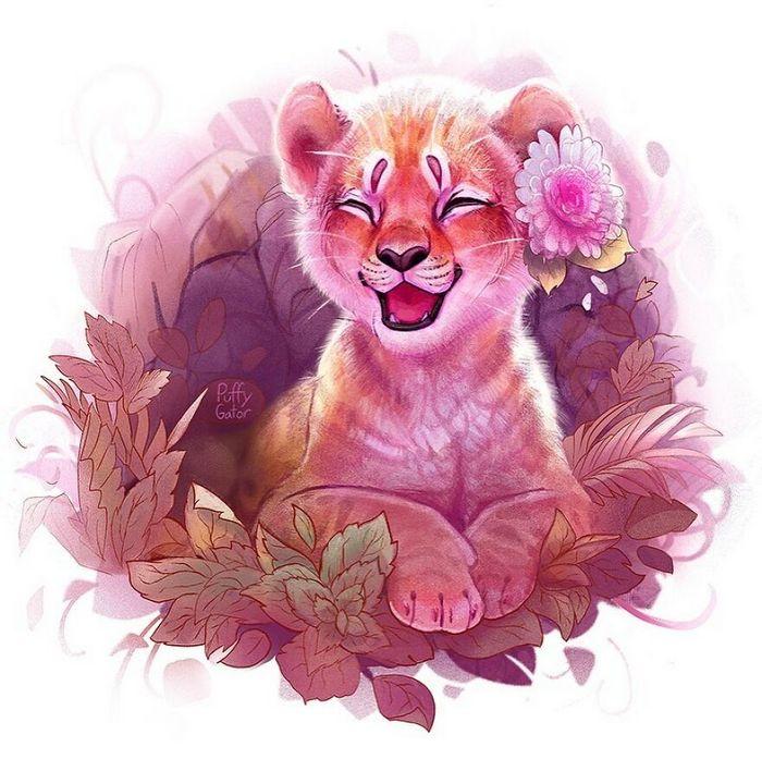 Artista cria ilustrações fofas de animais selvagens e animais de estimação 18