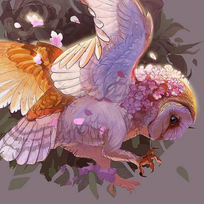 Artista cria ilustrações fofas de animais selvagens e animais de estimação 23