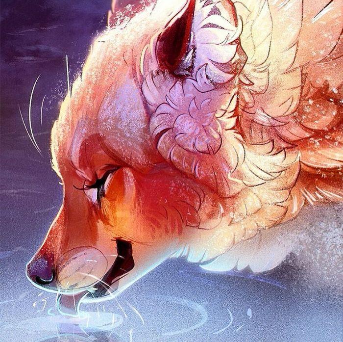 Artista cria ilustrações fofas de animais selvagens e animais de estimação 27
