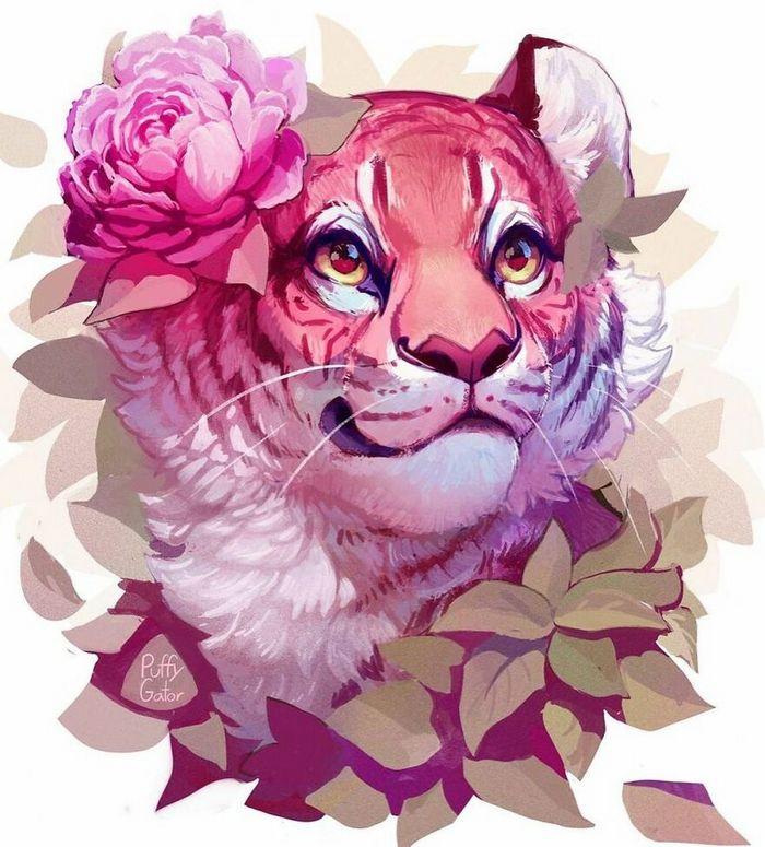 Artista cria ilustrações fofas de animais selvagens e animais de estimação 35